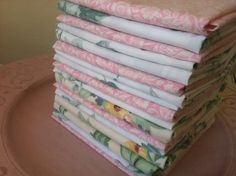 These soft handmade eco friendly cloth napkins are made to order in 8 inch, 10 inch, 12 inch, 15 inch or 17 inch square napkins. These eco friendly