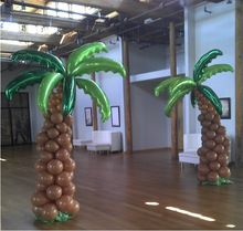 Foil Balloons / coconut tree shape balloon / 36 inch aluminum balloons palm leaves(China (Mainland))  LEUK VOOR TERRAS BUITEN?