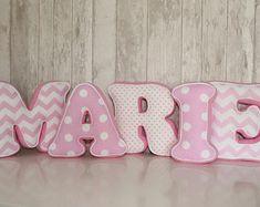 Baby Buchstabenkissen Wunschname Nestchen Stoff Buchstaben Baby Kissen
