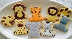 Biscoitos decorados Safari by Vanilla Art Cookies