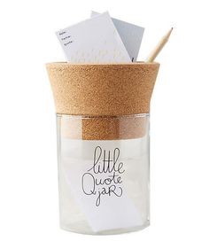 Little Quote Jar | With this list of unique finds at your fingertips, there's no need to stress about the office grab bag. See more great gifts for everyone on your list.