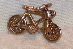 VINTAGE 14K Gold BICYCLE Charm Everything Moves 2.8 grams #Unbranded
