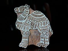 Hand Carved Indian Wood Textile Stamp Block- Camel. $38.00, via Etsy.
