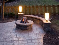 Inspired Stamped Concrete Patio method Kansas City Traditional Patio Decorating ideas with gas fire pit outdoor lighting stone stone wall