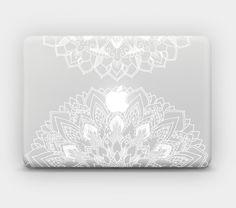 """Encre blanche transparente Skin Sticker autocollant pour MacBook 12"""" MacBook Air 11"""" 13 """"MacBook Pro 13"""" 15 """"-Mandala 9 b par DOTAskins sur Etsy https://www.etsy.com/fr/listing/243216014/encre-blanche-transparente-skin-sticker"""