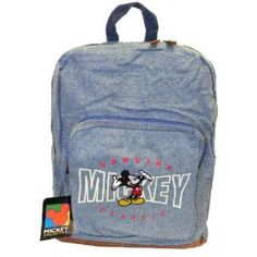 Welcome to ilik. Denim Backpack, Disney Mickey Mouse, Backpacks, Bags, Handbags, Taschen, Purse, Purses, Backpack