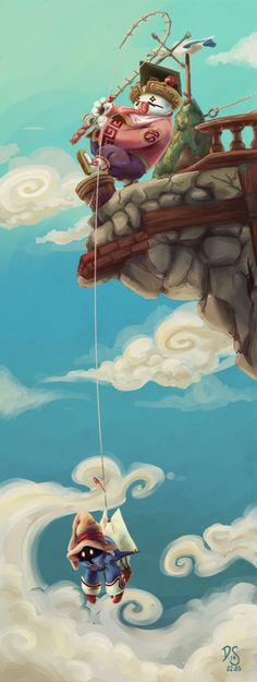 Mist Fishing by SirSmudge on DeviantArt