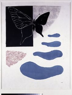 Koshiro Onchi  Butterfly Season, 1948  woodblock print