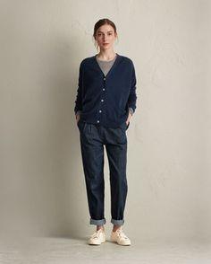 Women's Boxy Cashmere/Wool Cardigan