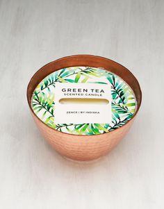 TAJ CANDLE duftlys grønn te kobber | Deco candles | Doftlys | Lys & Lykter | Home | INDISKA Shop Online