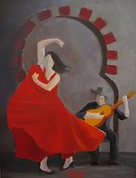 Flamenco Guitar Lessons, Beautiful Costumes, Spanish, Guitars, Bucket, Painting, Bathroom, Mini, Popular Music