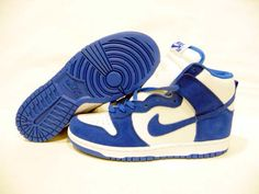 Nike Dunks High Be True To Your School Kentucky Blue White Discount Nikes, Running Workouts, Nike Dunks, Sports Shoes, Kentucky, The North Face, Kicks, Baby Shoes, Blue And White