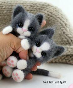 kot cat - Poland handmade felt ooak