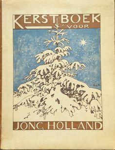Omslag Kerstboek 1927, omslag en illustraties zijn van Edzard Koning