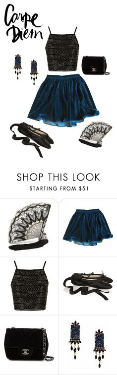"""""""friday nights"""" by inspiredfashion99 ❤ liked on Polyvore featuring Judith Leiber, American Apparel, Topshop, Ballet Beautiful, Chanel and Otazu"""