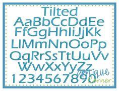 Tilted font