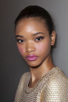 Valentine's Day makeup #GOALS - rosy pink cheeks and a glossy pink lip  @stylecaster