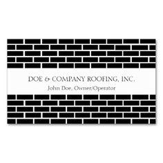 Rooferroofing company bw business card template roofer roofing rooferroofing black shingles ww business card template reheart Image collections