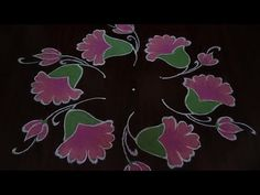 Simple and easy flower design rangoli Dot's. easy chukkala muggu simple and easy flower design rangoli thanks for watching please share comment below. Rangoli Side Designs, Rangoli Designs Diwali, Rangoli Designs With Dots, Rangoli With Dots, Beautiful Rangoli Designs, Simple Rangoli, Simple Flower Design, Simple Flowers, Flower Designs