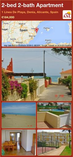 Apartment for Sale in 1 Linea De Playa, Denia, Alicante, Spain with 2 bedrooms, 2 bathrooms - A Spanish Life Apartments For Sale, Murcia, Alicante Spain, Double Bedroom, Common Area, Ground Floor, Terrace, Swimming Pools, Palmas