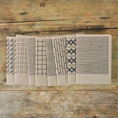 Recycled chipboard notebooks