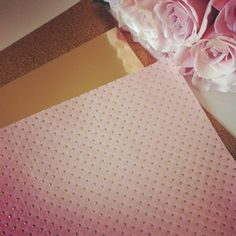 Pretty pink paper with gold polka dots