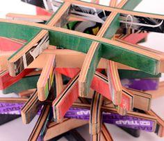 Untersetzer aus recycelten Skaeboards aus Deutschland über okversand.com