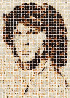 very cool #TOASTED #BREAD ART Henry Hargreaves #photography, Jim Morrison
