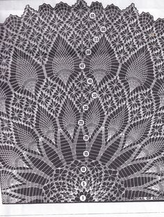 Vintage Digital Pattern Crochet Round Pineapple and Web Tablecloth 7164 Pattern PDF Crochet Bra, Crochet Dollies, Crochet Shawl, Hand Crochet, Crochet Hooks, Crochet Tablecloth Pattern, Crochet Doily Patterns, Crochet Mandala, Crochet Vintage