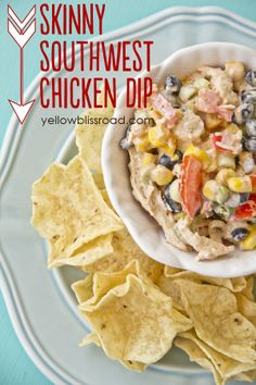 Healthy Eating | Skinny Southwest Chicken Appetizer recipe - Greek Yogurt makes this recipe just as healthy as it is delicious!