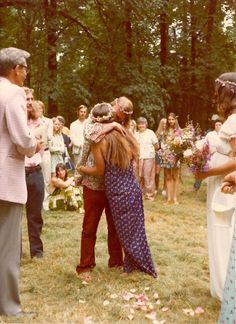 I like the idea of just getting married in the woods with people just in a circle ...hippie style :)