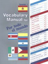 Por todo el mundo Spanish Year 1 Vocabulary Manual