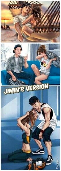 Beautiful Drawing of BTS' Jimin and his possible girlfriend!