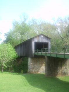 Covered Bridge In Euharlee, Ga.
