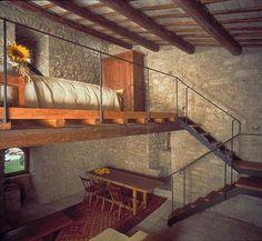 rustic mezzanine