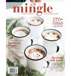 Inspirational women's magazines, gift subscriptions, and DIY projects to boost your creativity. Now trending: mixed-media, homemade bath and body, mindfulness. Halloween Dinner, Halloween Celebration, Halloween Cat, Subscription Gifts, Hot Cocoa Bar, Birthday Bash, Cookie Decorating, Bath And Body, Diy Projects