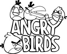 find this pin and more on grficos y patrones free printable angry bird coloring - Free Print Coloring Pages For Kids