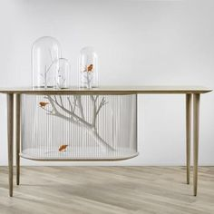 Designed by Grégoire de Lafforest, this whimsical birdcage blurs the lines between furniture and sculpture; Price upon request. galeriegosserez.com. Archibird.jpg