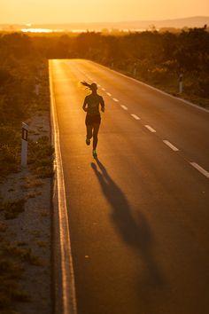 Running in sunset by Luka Tambača on 500px