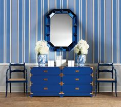 Tansu 3-Drawer Side Table, Adam Armchair, Romano Wall Mirror, Chiffany Rectangle Nesting Boxes