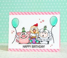 Cuuuuute card by Stephanie Klauck to Wish Heidi of Simon Says stamp Happy Birthday!  She used Simon Says Stamp Exclusives for this Awesome creation.  September 2014