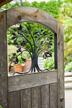 beautiful entry to a garden