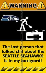 Seahawks Funny   ... High Quality Funny Warning Sign NFL Team Seattle Seahawks 2   eBay
