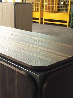 FRAME SIDEBOARD   Alain Gilles for Bonaldo -  sideboard metal wood graphic art structure furniture living room furniture color copper brass design prototype mock up