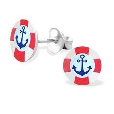 Ankhor Saveguard Lifebuoy Logo Studs - Silver Earrings