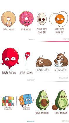 Cute Jokes, Cute Puns, Funny Puns, Funny Art, Funny Cartoons, Funny Relatable Memes, Cute Animal Drawings Kawaii, Cute Cartoon Drawings, Funny Doodles