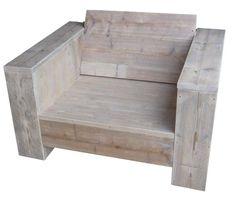 Loungefauteuil maken, bouwtekeningen voor de steigerhout tuinstoel XL, bouwtekeningen en handleiding.  Houten lounge tuinstoel
