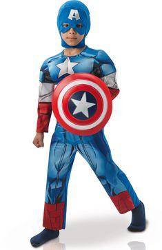 Ce costume de Captain America sera parfait pour vous joindre au groupe des Avengers à l'occasion du Carnaval.