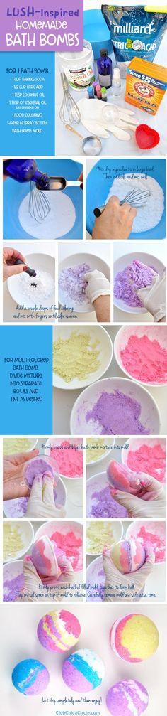 How to make homemade LUSH bath bombs