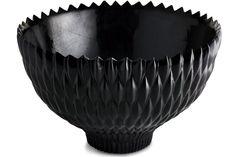 resin bowl. black-lacquer. Architectural digest. Janus et Cie